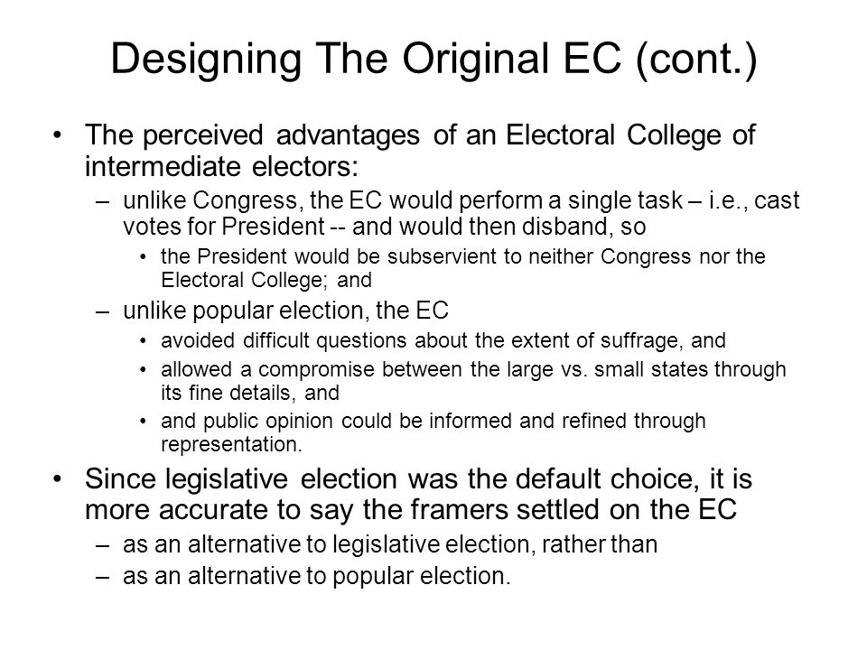 Designing The Original EC (cont.)