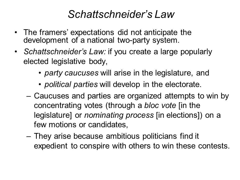Schattschneider's Law