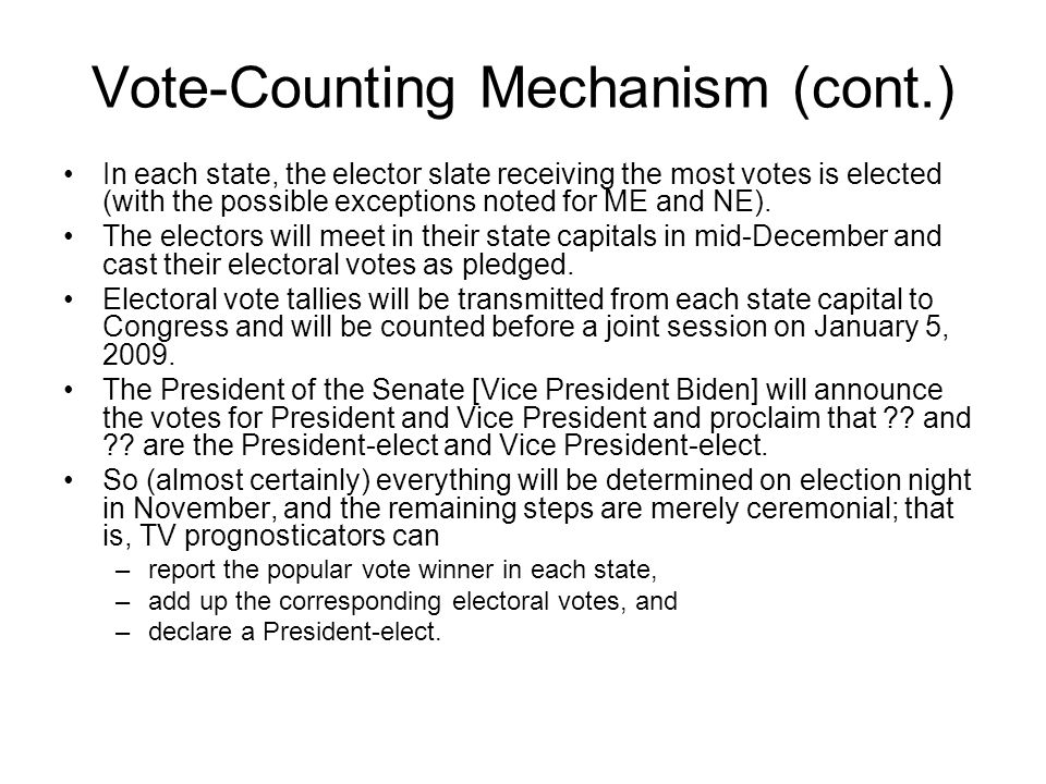 Vote-Counting Mechanism (cont.)