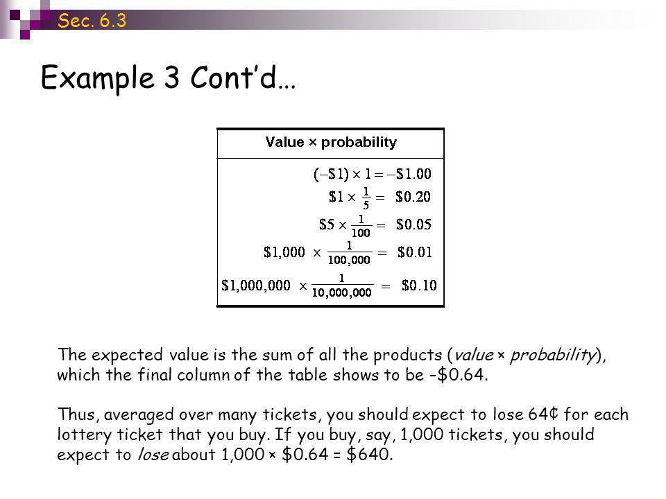 Sec. 6.3 Example 3 Cont'd…