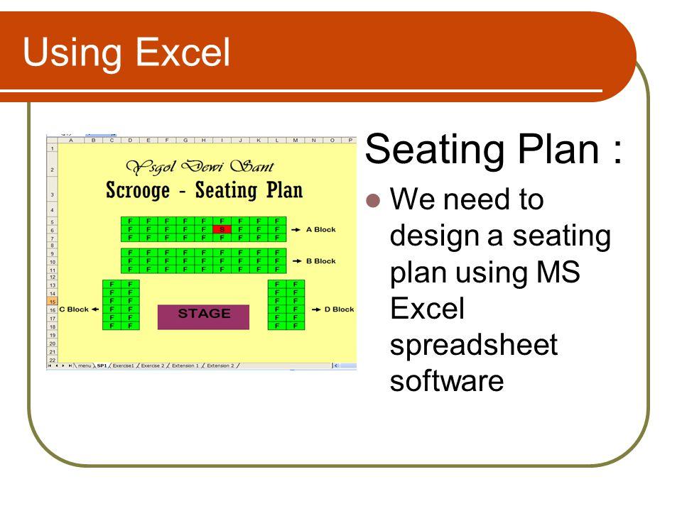 Seating Plan : Using Excel