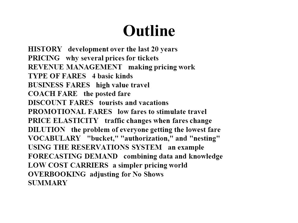 Outline HISTORY development over the last 20 years