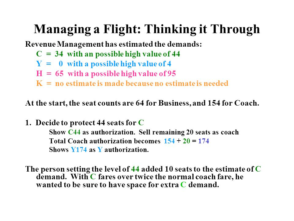 Managing a Flight: Thinking it Through