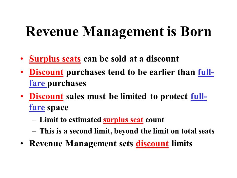 Revenue Management is Born