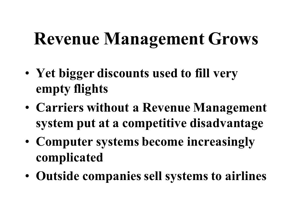 Revenue Management Grows