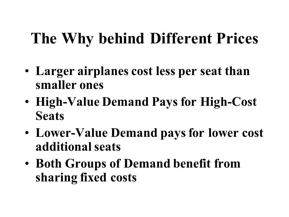 The Why behind Different Prices