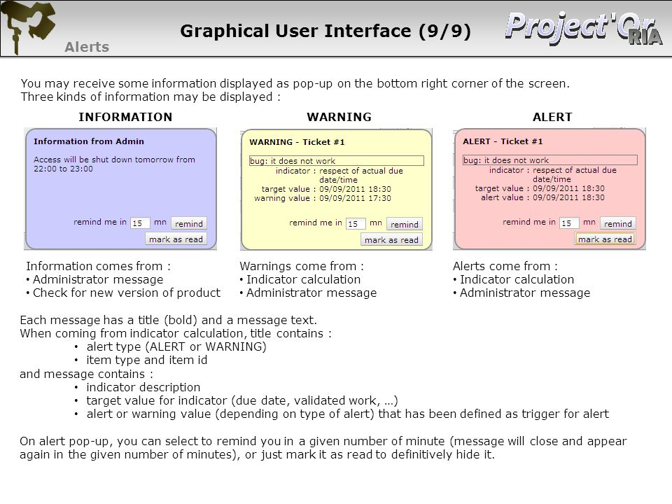 Graphical User Interface (9/9)