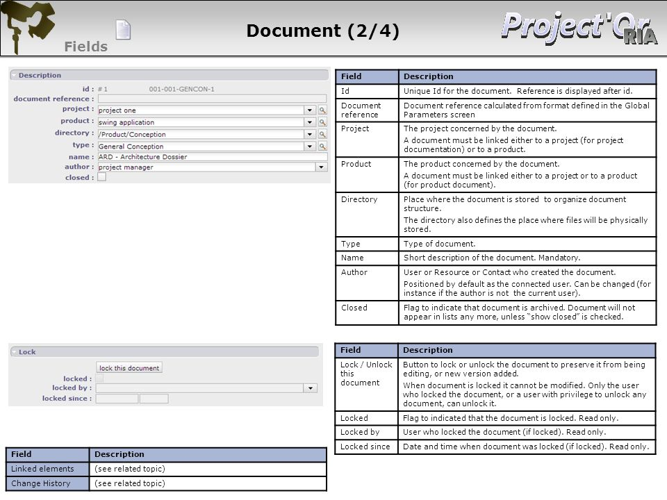 Document (2/4) Fields 44 44 44 44 Field Description Id