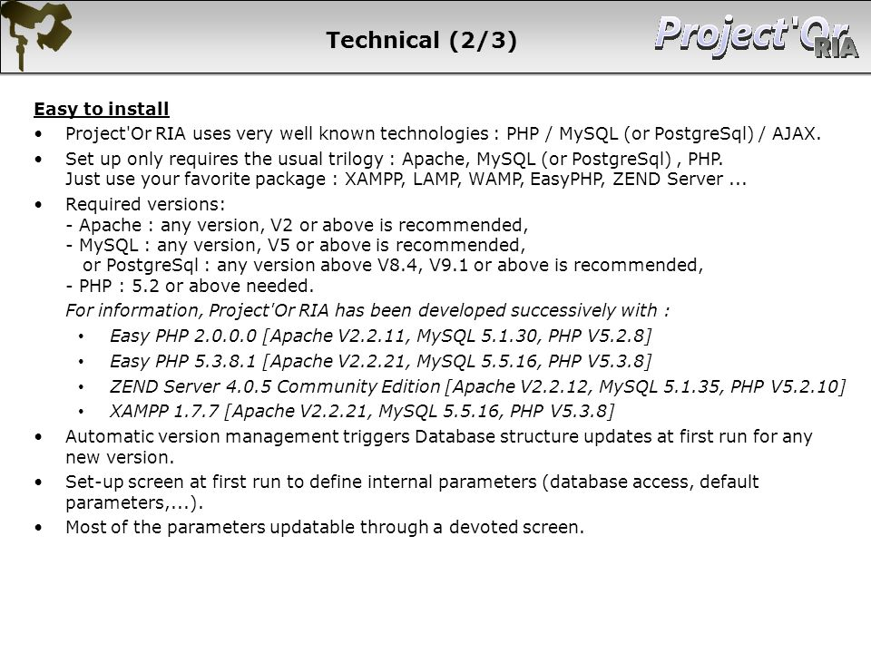 Technical (2/3) Easy to install