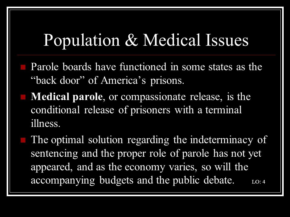 Population & Medical Issues