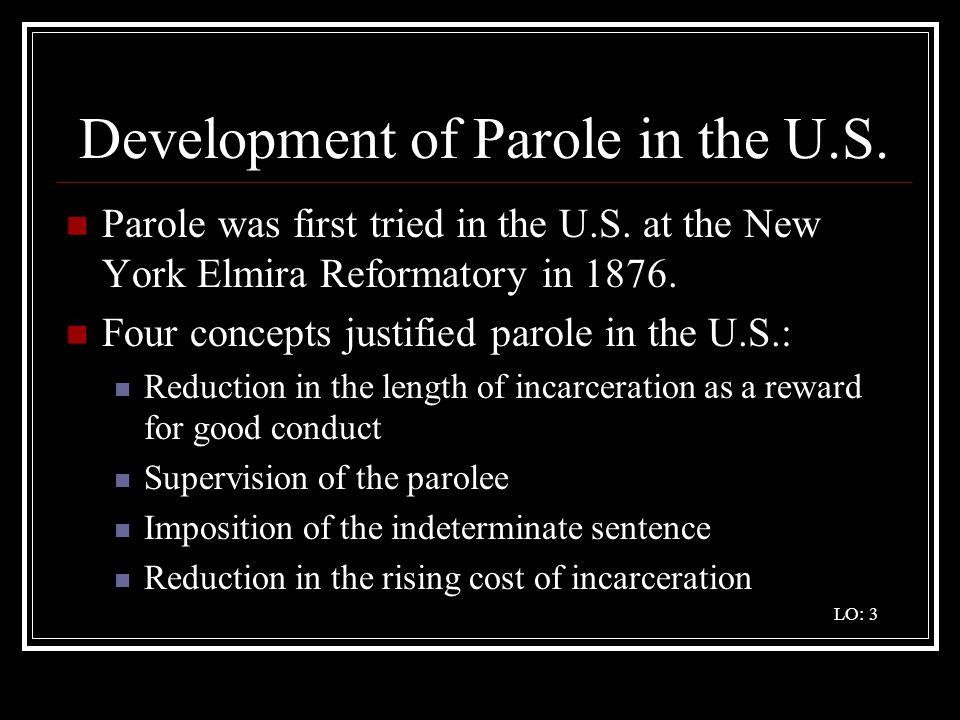 Development of Parole in the U.S.