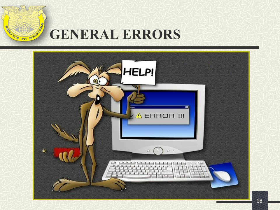 GENERAL ERRORS