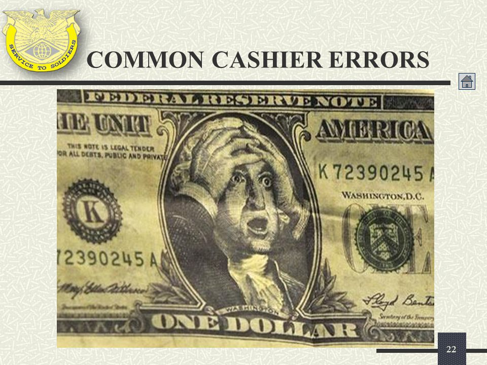 COMMON CASHIER ERRORS