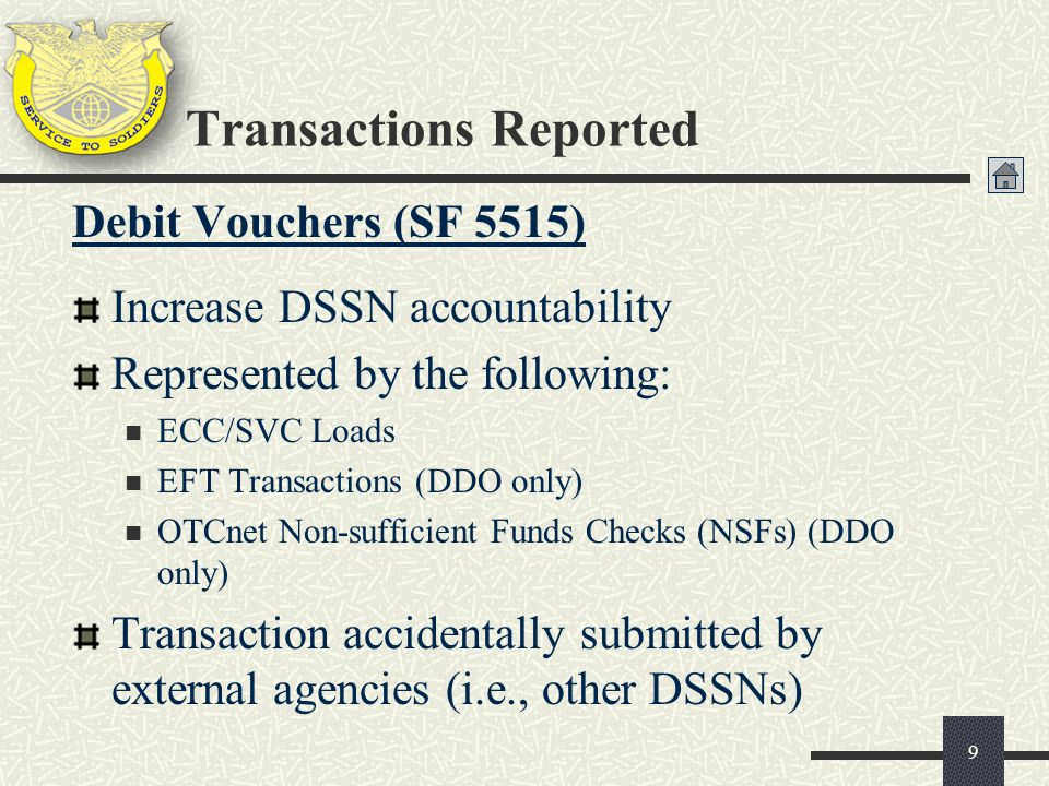 Transactions Reported