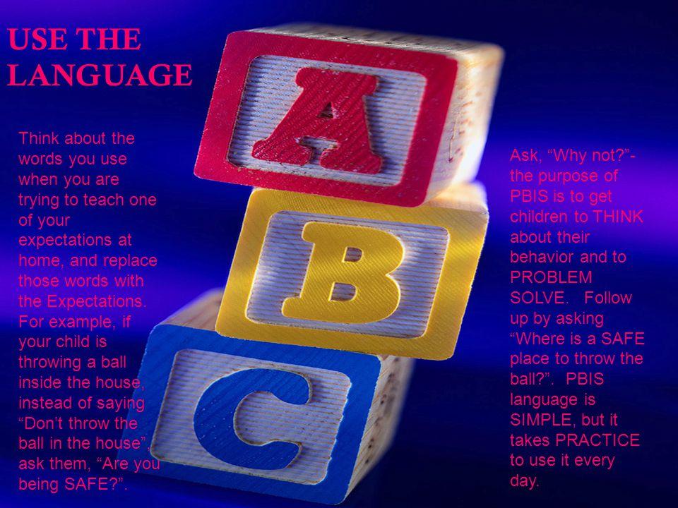 USE THE LANGUAGE USE THE LANGUAGE