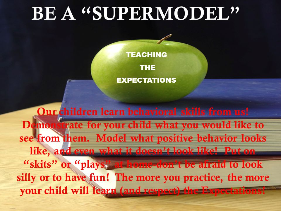 BE A SUPERMODEL TEACHING. THE. EXPECTATIONS.