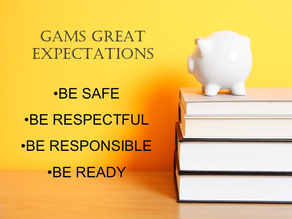 GAMS GREAT EXPECTATIONS