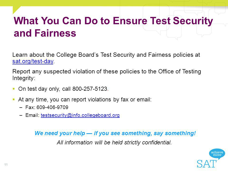 What You Can Do to Ensure Test Security and Fairness