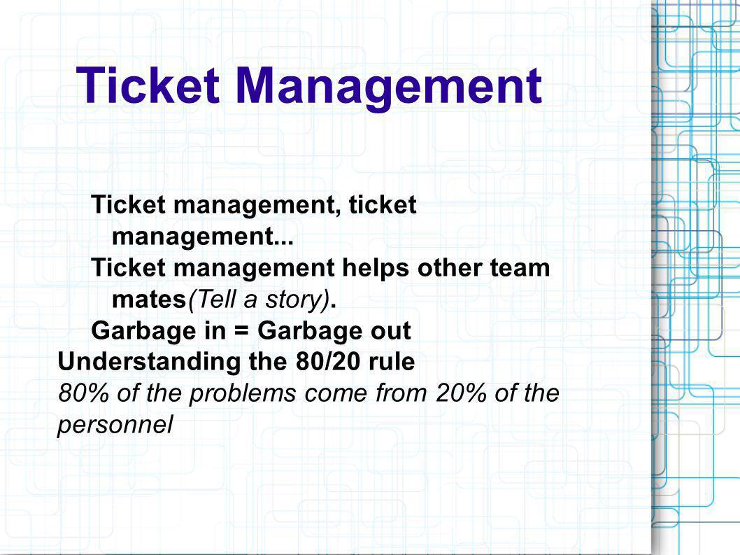 Ticket Management Ticket management, ticket management...