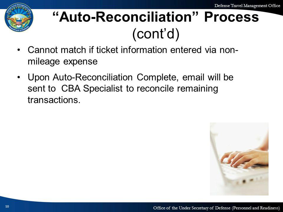Auto-Reconciliation Process (cont'd)