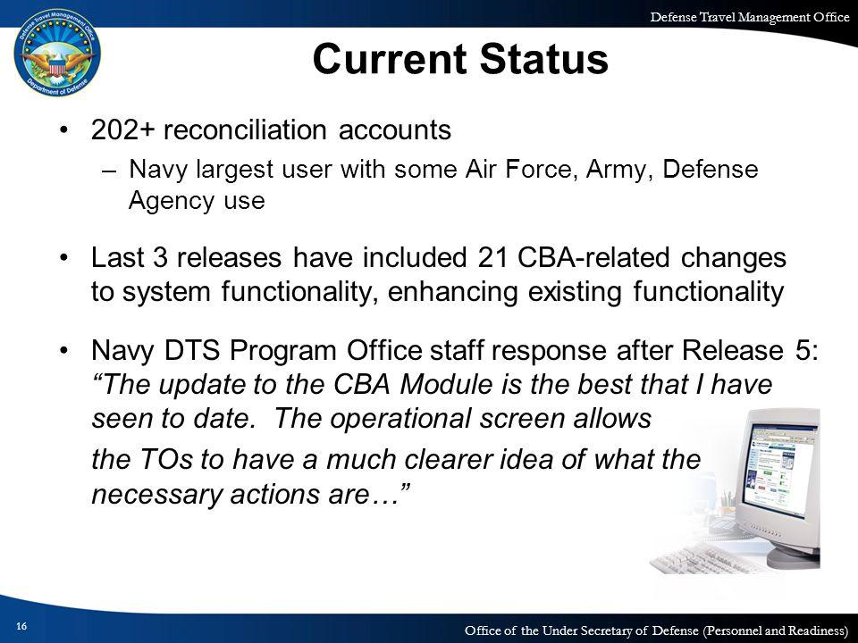 Current Status 202+ reconciliation accounts