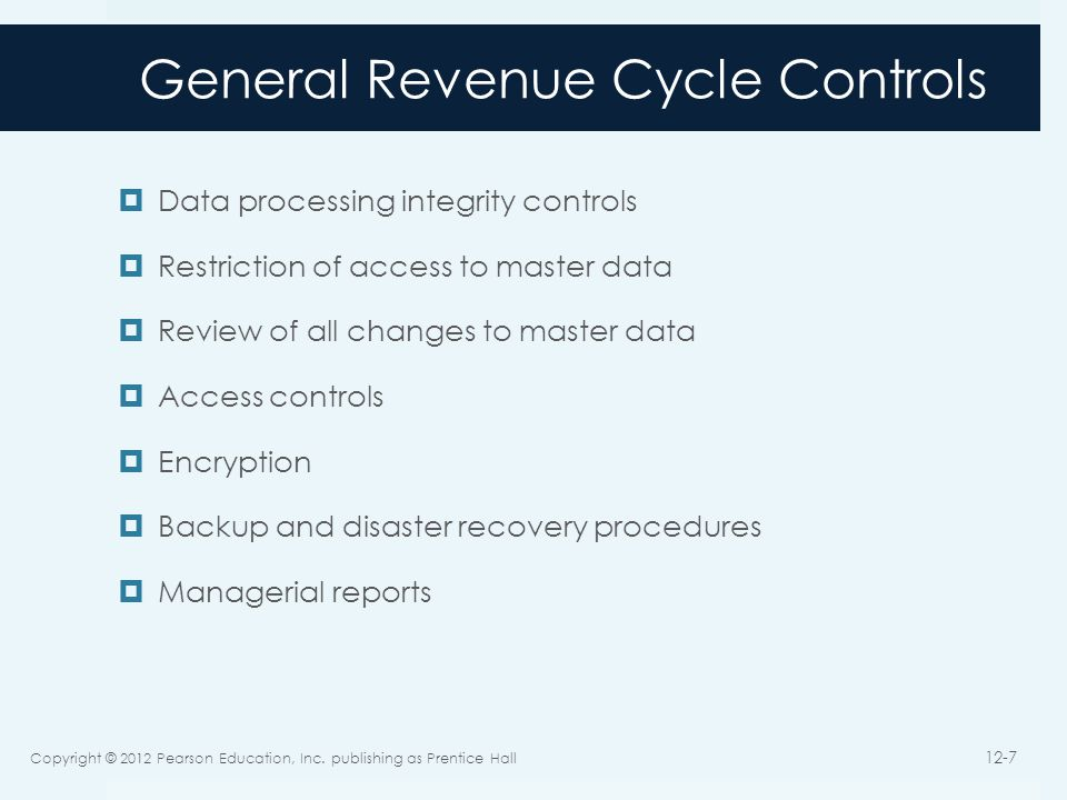 General Revenue Cycle Controls