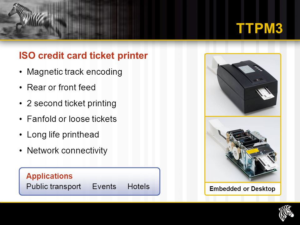 TTPM3 ISO credit card ticket printer Magnetic track encoding