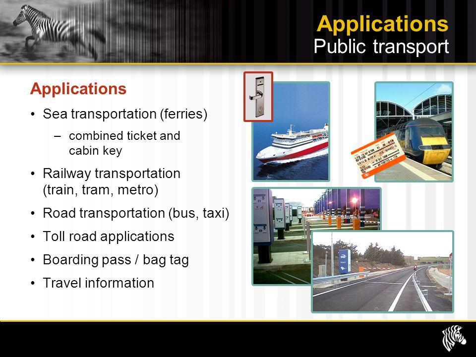 Applications Public transport