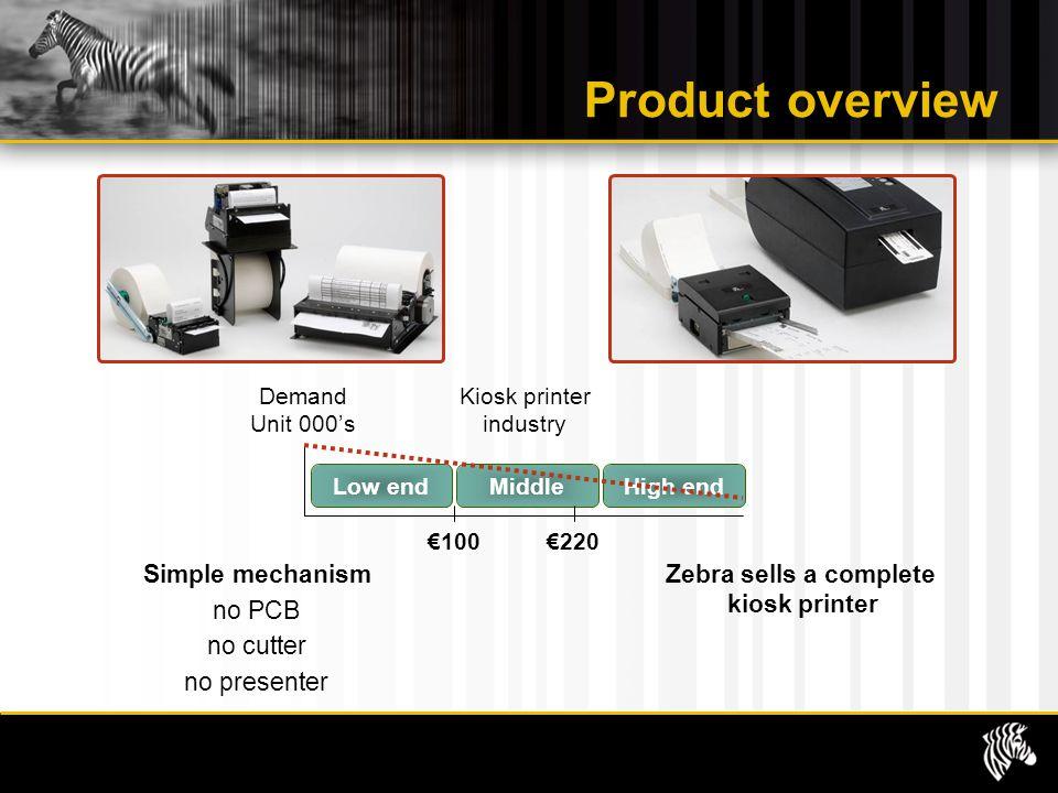 Zebra sells a complete kiosk printer