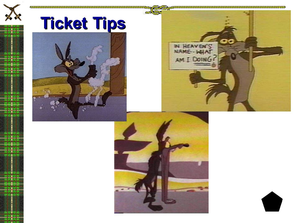 Ticket Tips