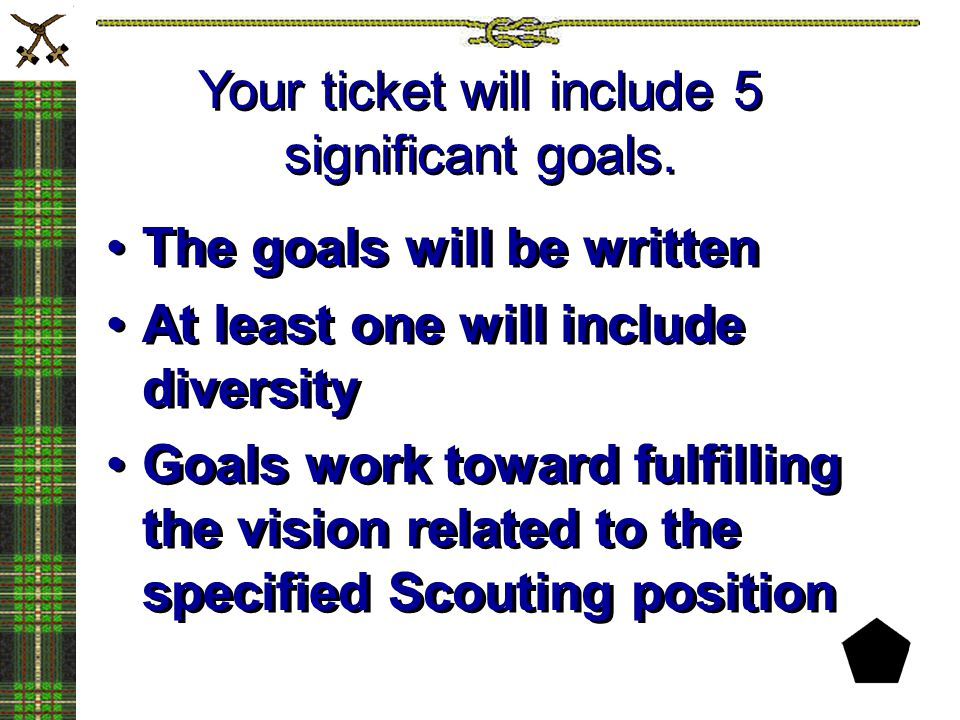 Your ticket will include 5 significant goals.