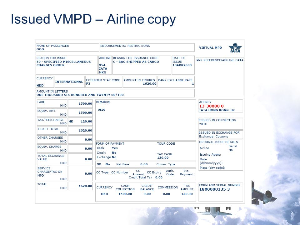 Issued VMPD – Airline copy
