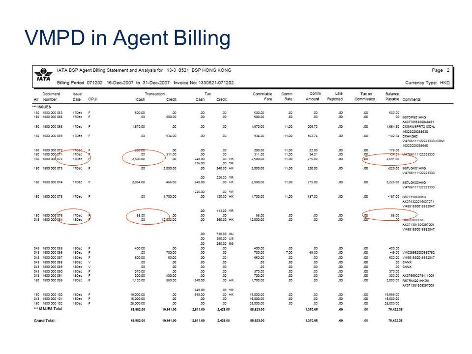 VMPD in Agent Billing