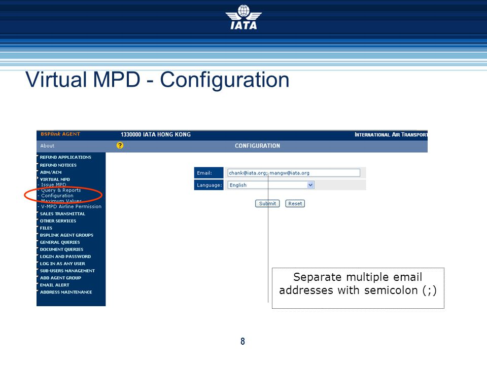 Virtual MPD - Configuration
