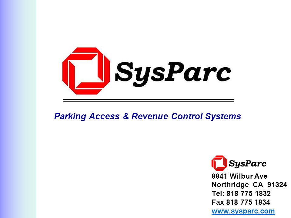 Parking Access & Revenue Control Systems