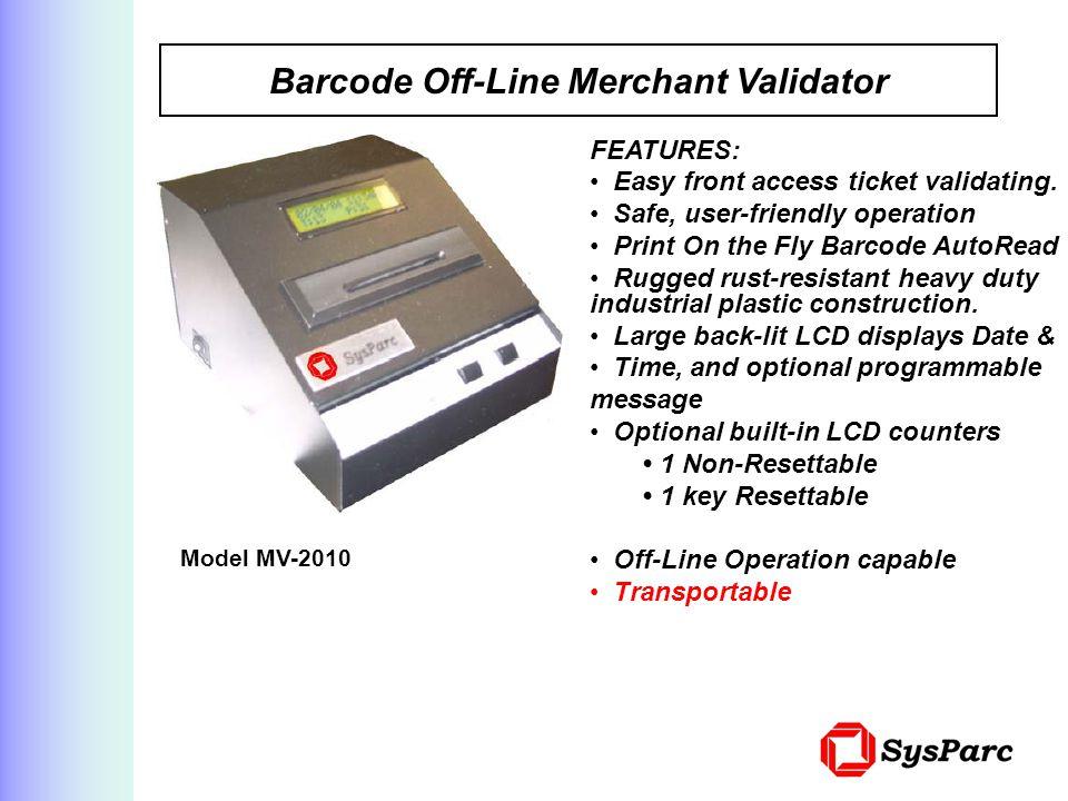 Barcode Off-Line Merchant Validator