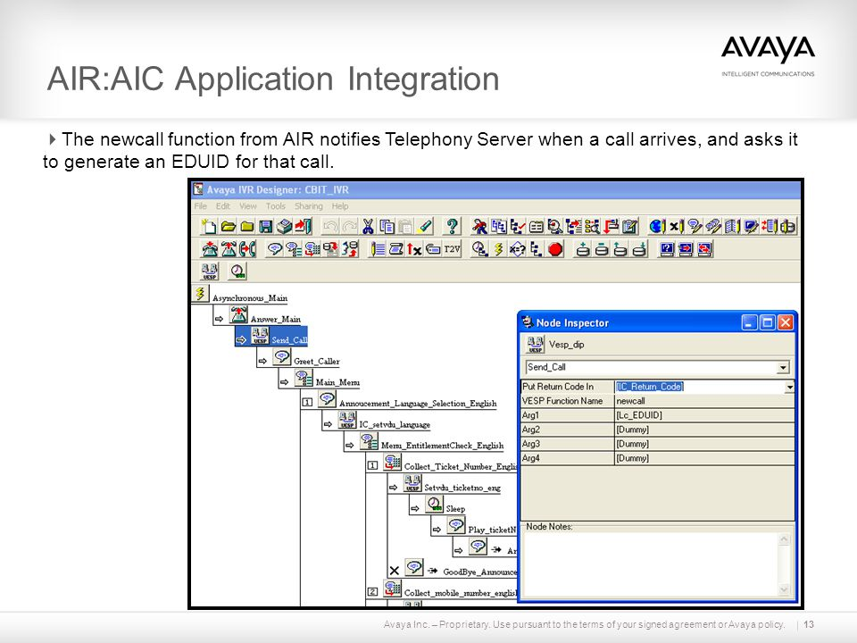 AIR:AIC Application Integration