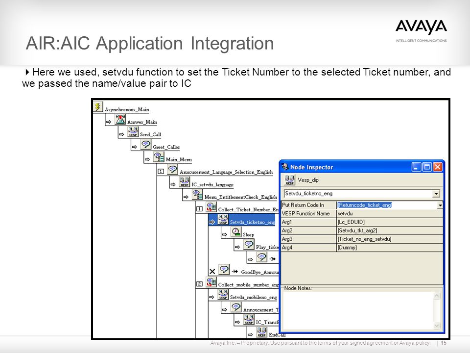 AIR:AIC Application Integration