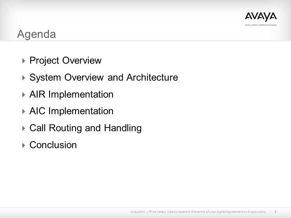 Agenda Project Overview System Overview and Architecture