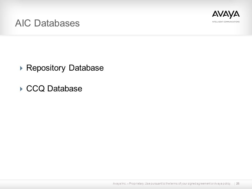 AIC Databases Repository Database CCQ Database