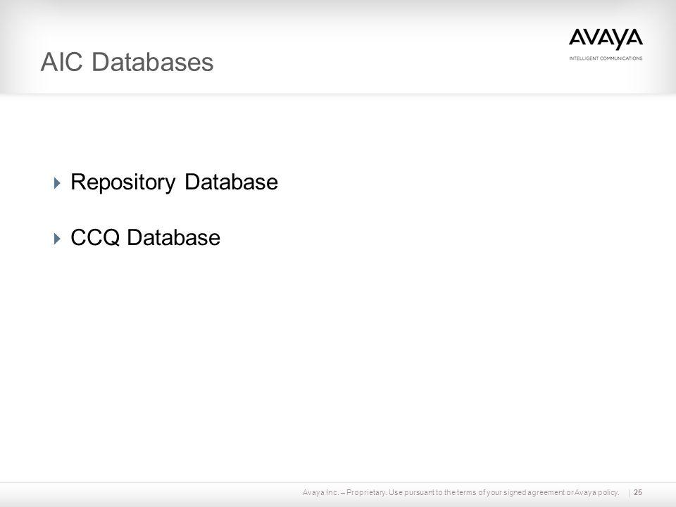 AIC Databases Repository Database CCQ Database