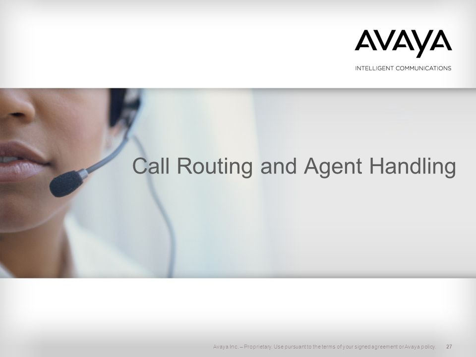 Call Routing and Agent Handling
