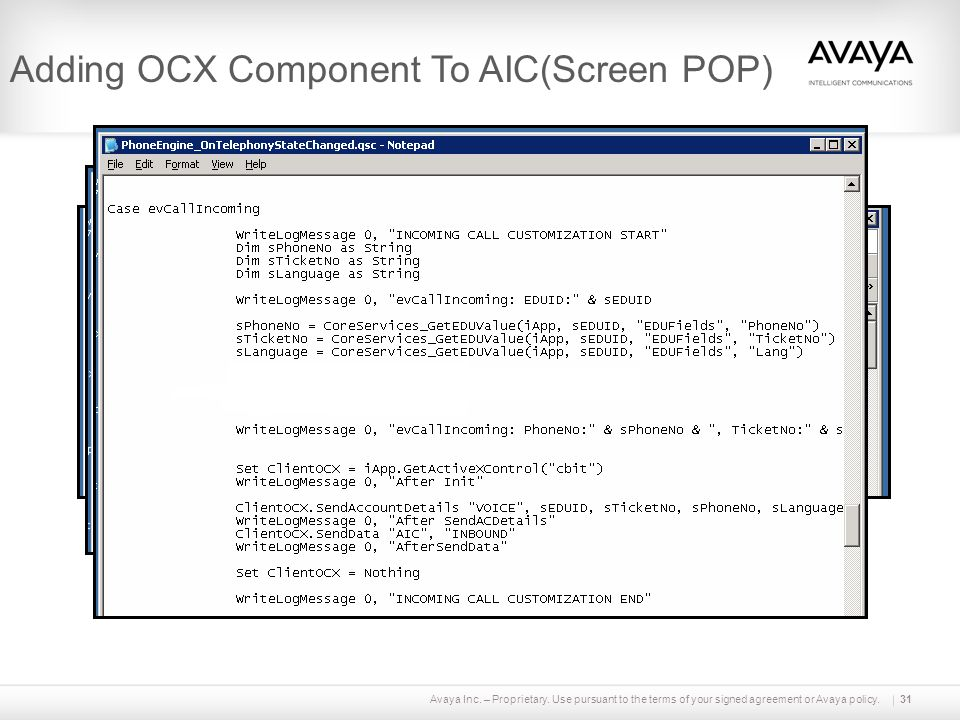 Adding OCX Component To AIC(Screen POP)