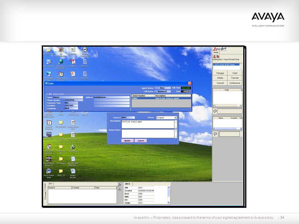 Avaya Inc. – Proprietary