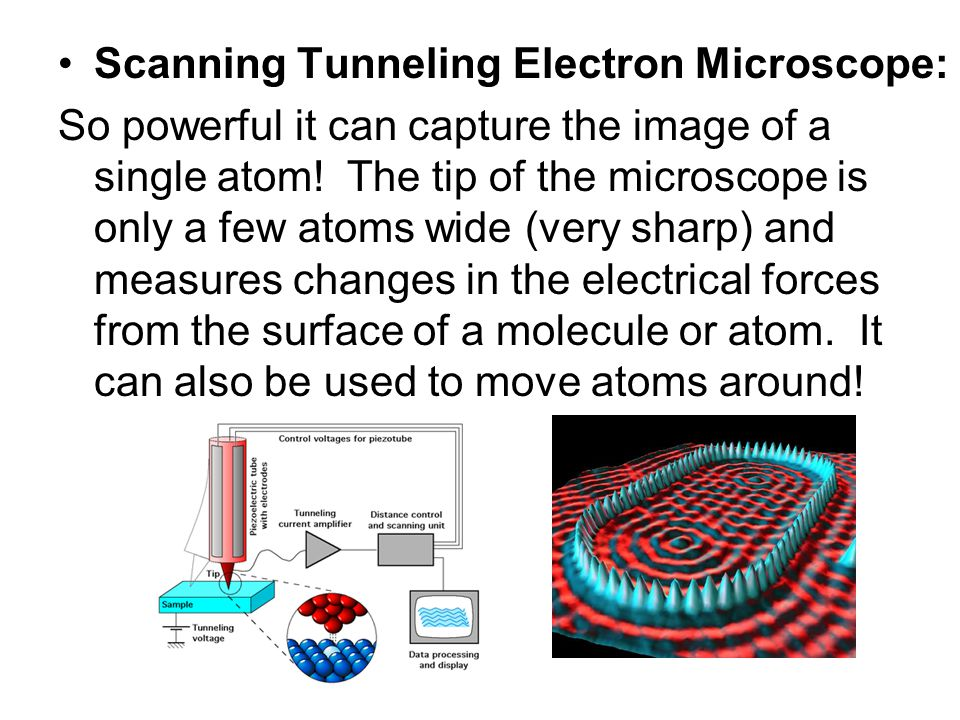 Scanning Tunneling Electron Microscope: