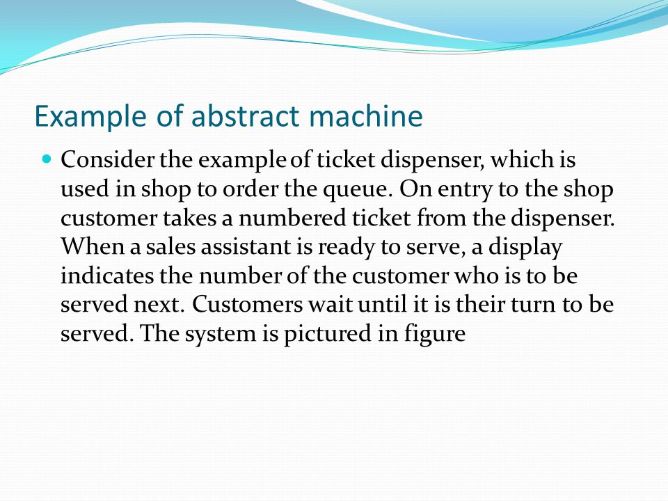 Example of abstract machine