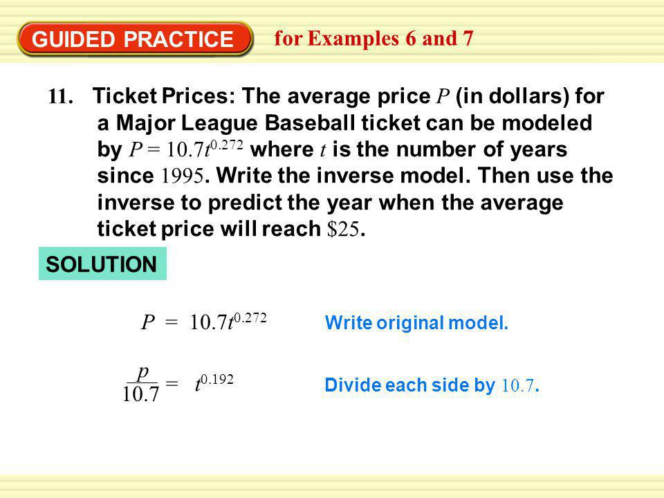 GUIDED PRACTICE for Examples 6 and 7