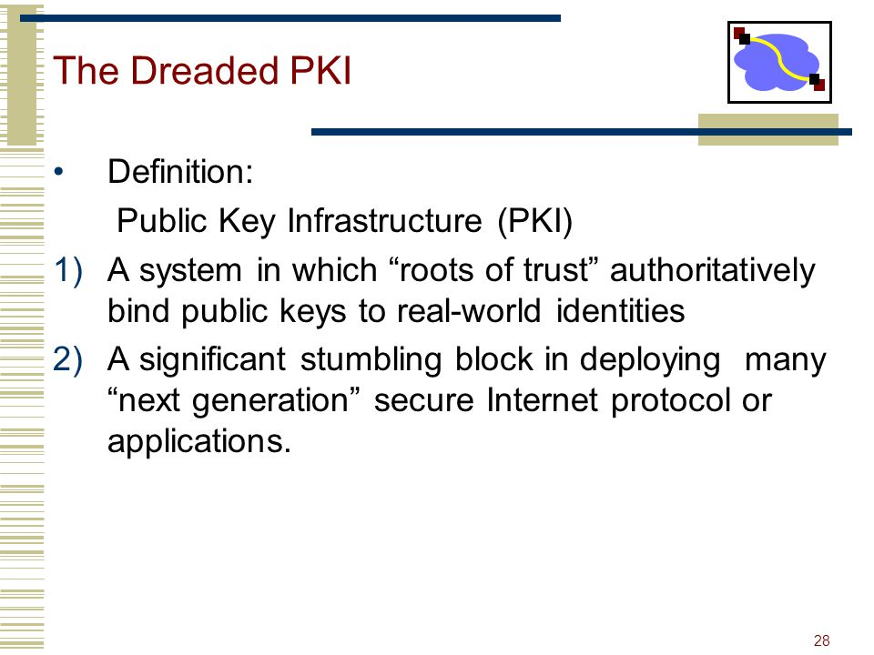 The Dreaded PKI Definition: Public Key Infrastructure (PKI)