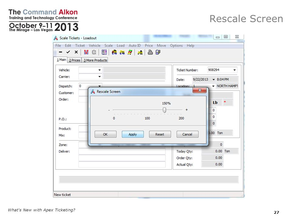 Rescale Screen What s New with Apex Ticketing