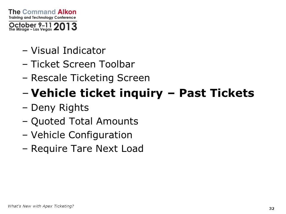 Vehicle ticket inquiry – Past Tickets